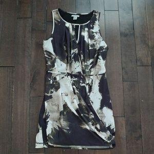 H&M floral sleeveless dress tied waist